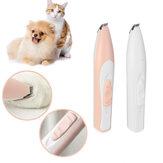 Recarregável USB Pet elétrico Unhas Cabelo Trimmer Grinder Cat & Dog Grooming Tool Cortador de cisalhamento elétrico