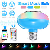12W RGBW E27 Dimmable bluetooth LED Light Bulb APP Control Speaker Music Lamp+Remote Control 85-265V
