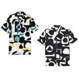 Lässige Kurzarm-bedruckte Party-Button-Down-Shirts für Herren Sommer-T-Shirt Wandern Walking Holiday