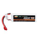 XF POWER 7.4V 2600mAh 60C 2S Lipo Battery T Plug for Wltoys 1/14 144001 RC Car Upgrade Parts