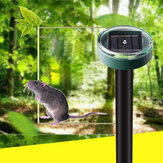 KCASA 2pcs Solar Mole Repellent Ultrasonic Outdoor Powered Sonic Gopher Mole Snake Mouse Pest Anti Repeller