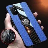 Bakeey for OnePlus 8T Case with Magnetic Ring Bracket Stand Shockproof Breathable Cloth Fabric Protective Case