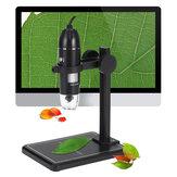 1600X 8LED 2MP USB Digital Microscope Borescope Magnifier Camera +Stand Holder