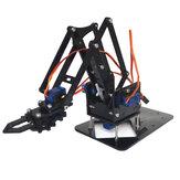 4DOF SG90ロボットDIYのプラスチックギアサーボとアクリル機械ロボットアームの組み立て