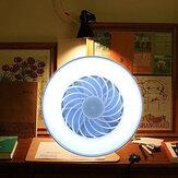 220V 12W E27 Mini Fan Light Ventilator Light Desk Lamp Bedroom Living Room Table Lamp