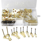 130Pcs Picture Hooks Wall Picture Hanging Kit With Nails Wall Mounting