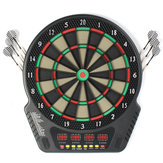 18 Inch Profesional Papan Dart Elektronik Bullseye 4 LED Display 243 Bermain Metode