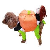 FunnyPetPerroTrajesdemudanza de calabaza Pet Party Festival Apparel Clothing Costume Ropa de invierno