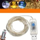 10M USB LED Koperdraad Fairy String Light 8 Modi Outdoor Strip Lamp Wedding Christmas Party