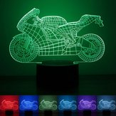 Iluminação de Motocicleta 3D LED Mesa de Mesa Luz USB 7 Cor Changing Night Lamp Home Decor