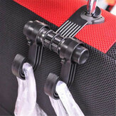 RUNDONG Multifunctional ABS Car Seat Back Hook Dual Brackets Hangers