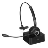 Bluetooth 5.0 Business Headphones With Bass Mono Bluetooth Wireless Headset for Truckers Drivers and Business Worker