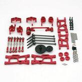 Wltoys 144001 124019 124018 مجموعة أجزاء معدنية مطورة RC أجزاء السيارة
