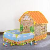 Портативная детская игровая палатка, домик, палатка Пляжный, Бассейн, палатка для двора, Сад, игра, ползучая складная палатка, игрушка