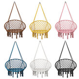 Macrame Swing Chair Kids Hanging Hammock Chair Carga máxima 125 kg Jardim interno externo