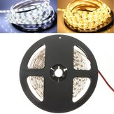 5M 24W 300LEDs SMD 3528 Puro Blanco Caliente Blanco LED Luz de Tira Flexible Impermeable DC12V