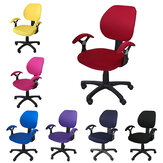 Elastic Office Chair Cover Computer Rotating Chair Protector Stretch Armchair Seat Slipcover Home Office Furniture Decoration