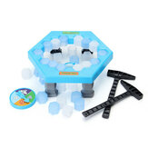 FUNTOK Sparen Penguin Ice Kids Puzzel Game Break Ice Block Hammer Trap Party Toy Speel Icebreaker