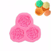3D Silicone 3 Rose Bloemen Fondant Cake Chocolade Mould Mould DIY Cake Decoration