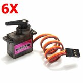 6X MG90S Metal Gear RC Micro Servo for ZOHD Volantex Airplane RC Helicopter Car Boat Model