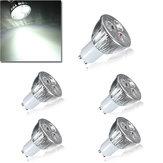 5X GU10 9W White 3LED Spotlightt Bulbs LED Lamp Light AC85-265V