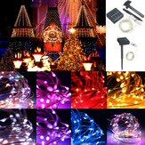 13M 120LED Outdoor solare Power Sliver String Fairy Light Wedding Party Giardino di Natale lampada IP67