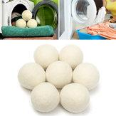 8pcs xl lã secador bola reutilizável natrual tecido emoliente bolas para a máquina de secagem de roupa