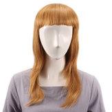 UzunDüzTamBangPerukİnsanlar Saç Peruks Virgin Remy Mono Üst Kapaksız