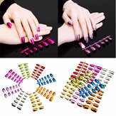 Colorful Metallic Metal Color Nail Art Deocoration Tips 6 Sizes