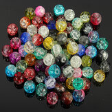 80pcs 8mm Crystal Crack Glas Losse Spacer Beads Gemengde Kleur
