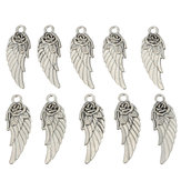 10Pcs Tibetan Silver Rose Angel Wings Pendants Charm DIY