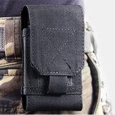 في الهواء الطلق التكتيكية الخصر حقيبة التخزين حالة تغطية الحقيبة للهواتف الذكية أقل من 6 بوصة