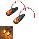 2x LED Lámpara de indicadores de luz de señal de vuelta de la motocicleta universal de ámbar