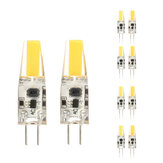 10X ZX Dimmable Mini G4 LED COB LED Lâmpada 2W DC / AC 12V Chandelier Light Substituir halogênio G4 Lâmpadas