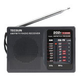 DC 3V-6V Mini przenośne radio Tecsun R-202t FM / AM 64-108MHz World Band Receiver
