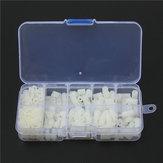 Suleve™ M3NH9 M3 Nylon Screw White Hex Screw Nut Nylon PCB Standoff Assortment Kit 300pcs