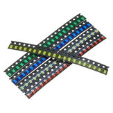 2000Pcs 5 Colors 400 Each 1206 LED Diode Assortment SMD LED Diode Kit Green/RED/White/Blue/Yellow