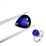 9x11mm Blue Gemstones Pırlanta yapay safir takı DIY Gevşek Taş Dekorasyon Yapmak