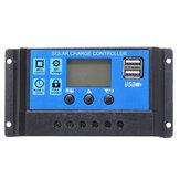 10/20/30A 12 / 24V LCD Dual USB Solar Panel Battery Regulator Charge Controller