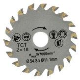 18 Tanden Diameter 54.8mm Circulaire TCT Zaagblad Betoncement Hout Snijzaagblad