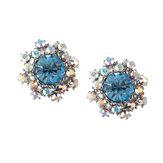 シンプルな宝石の耳のスタッドマイクロ舗装の花のイヤリングClassic