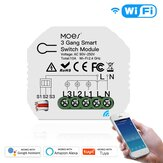 MoesHouse Mini DIY WiFi Smart Light Switch Módulo 3 Gang 1/2 Way Smart Life / Tuya App Control para Amazon Alexa e Google Home