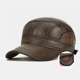 男性本革Plus厚さ冬屋外保つ暖かい耳保護カジュアル屋外野球帽子