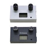 Boîtier métallique en alliage d'aluminium pour Module récepteur Radio FM stéréo numérique DSP & PLL 87-108 MHz