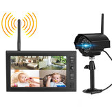 Wireless CCTV Camera Kit Home Security System with 7inch LCD Monitor DVR Motion Detect