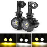 2 stks 10-30 v 20 w E9 motorfiets led extra mist spot light rijden lamp voor bmw r1200 adv