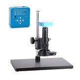 HAYEAR Full Set 34MP 2K Industrial Soldadura Microscopio Cámara Salidas USB 180X C-mount Lente 60 LED