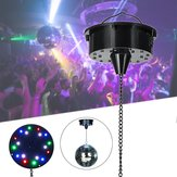 18 RGB LED Obrotowy silnik do Mirror Ball Stage KTV Party Sound Activated