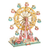 295PCS 3D Wooden Laser Cutting Dream Ferris Wheel Three-dimensional DIY  Educational Jigsaw Puzzle Toy