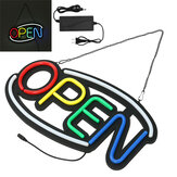 50x26cm LED Neon OPEN Sign Light Display Business Cafe Bar Club Store Wall Advertising Decor US Plug